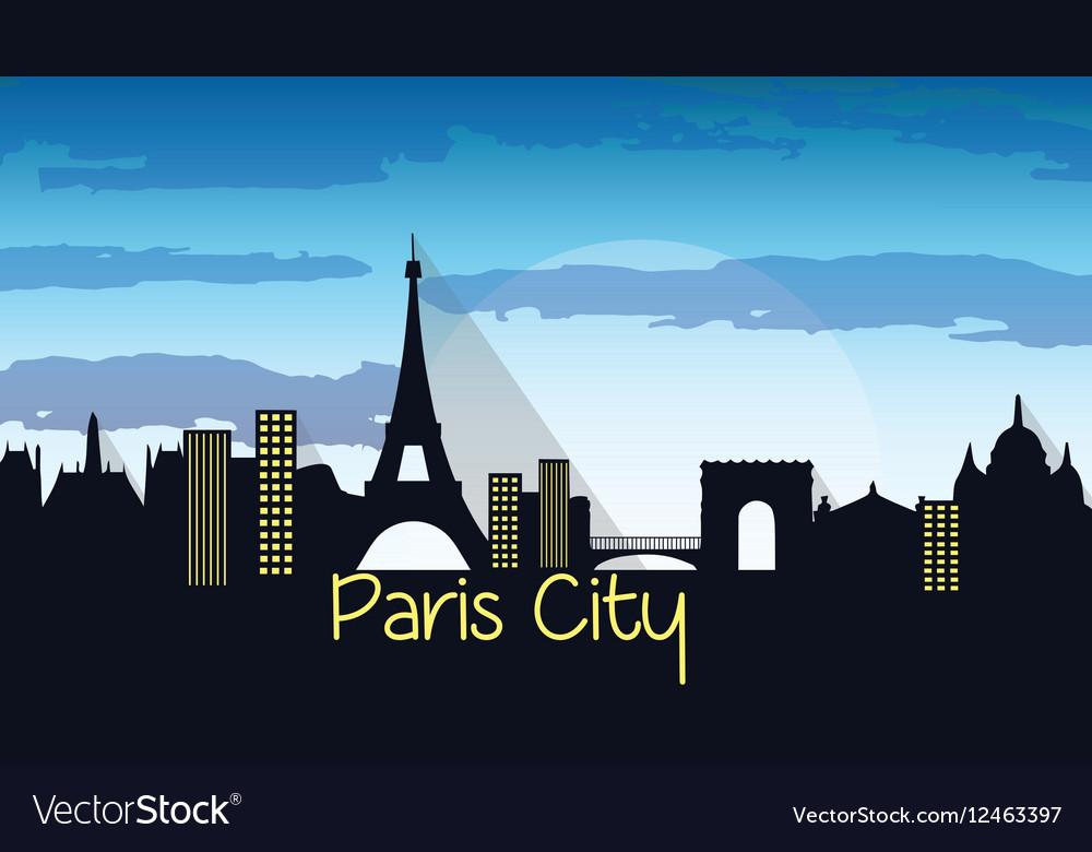 Paris City Silhouette
