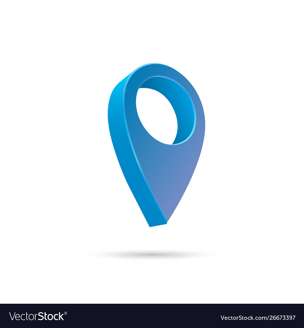 28 Set map pointer 10d pin location symbols Royalty Free Vector