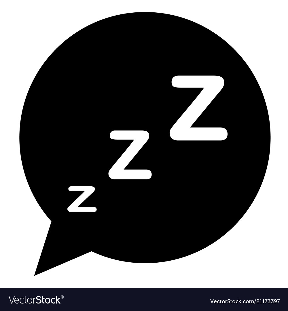 Sleeping icon in trendy flat style on white