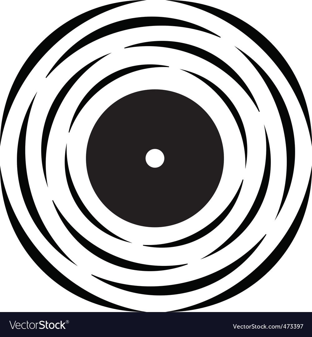 vinyl record logo royalty free vector image vectorstock rh vectorstock com vinyl record player vector vinyl record player vector