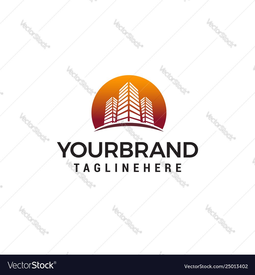 Architecture and building logo concept design