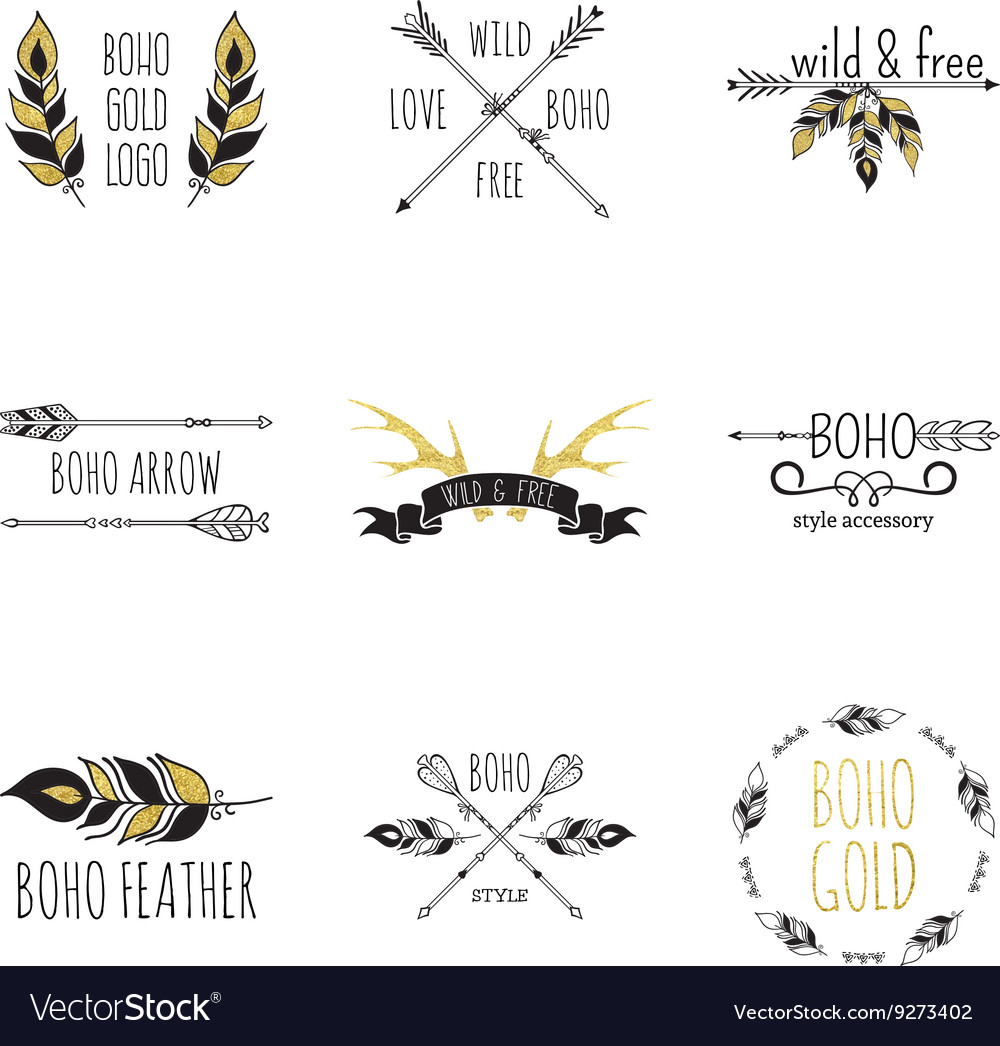 Boho Logo Set