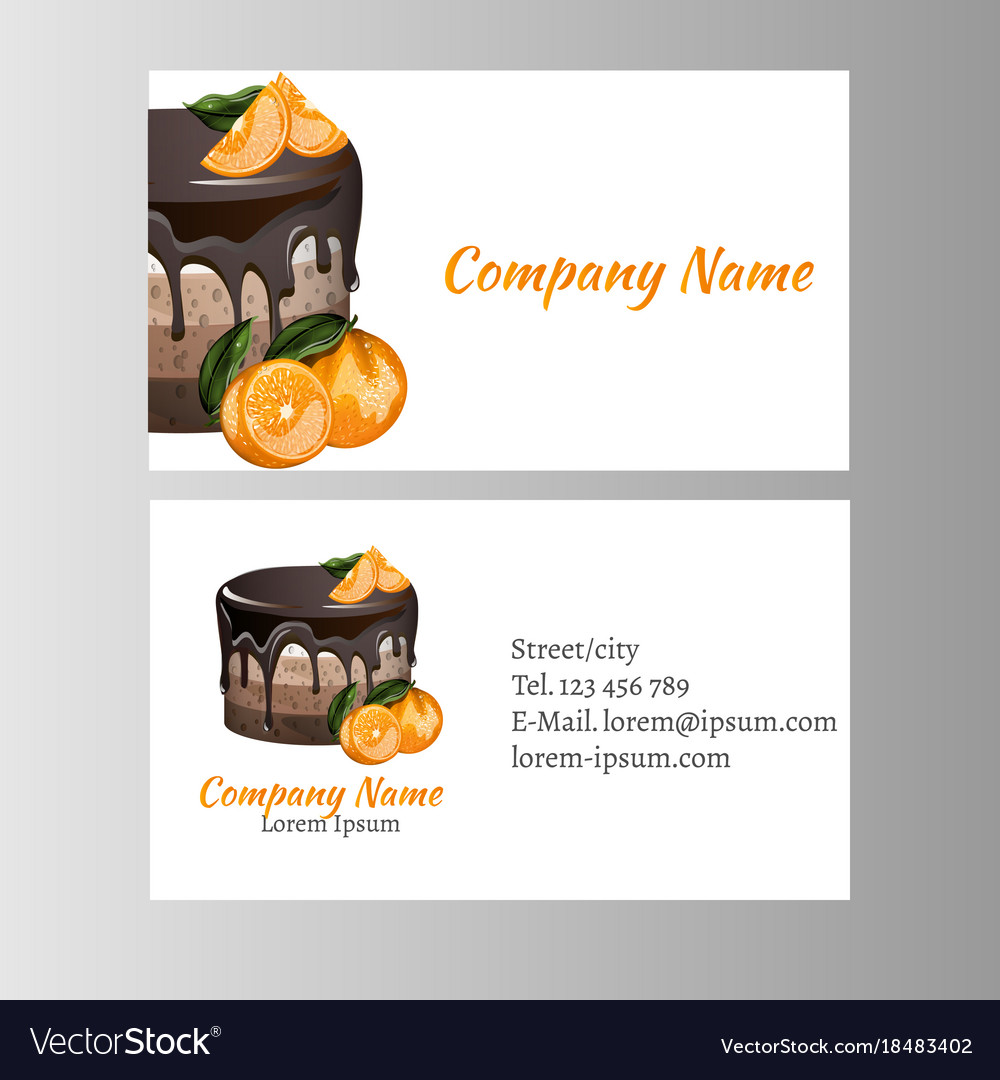 business card template for bakery business vector image - Bakery Business Cards