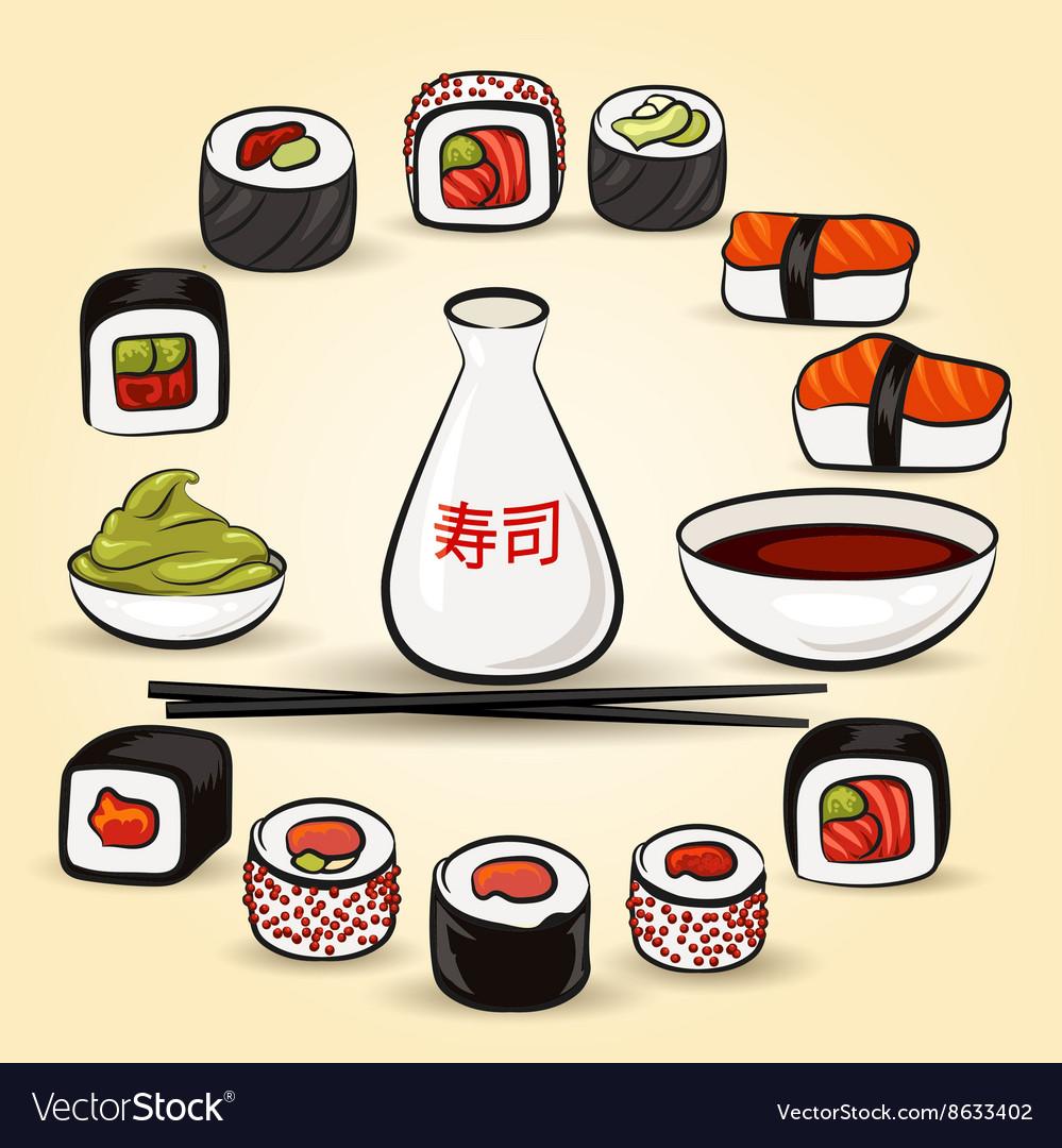 Colorful Sushi set