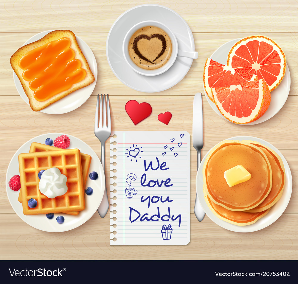Sweet buffet daddy composition vector image