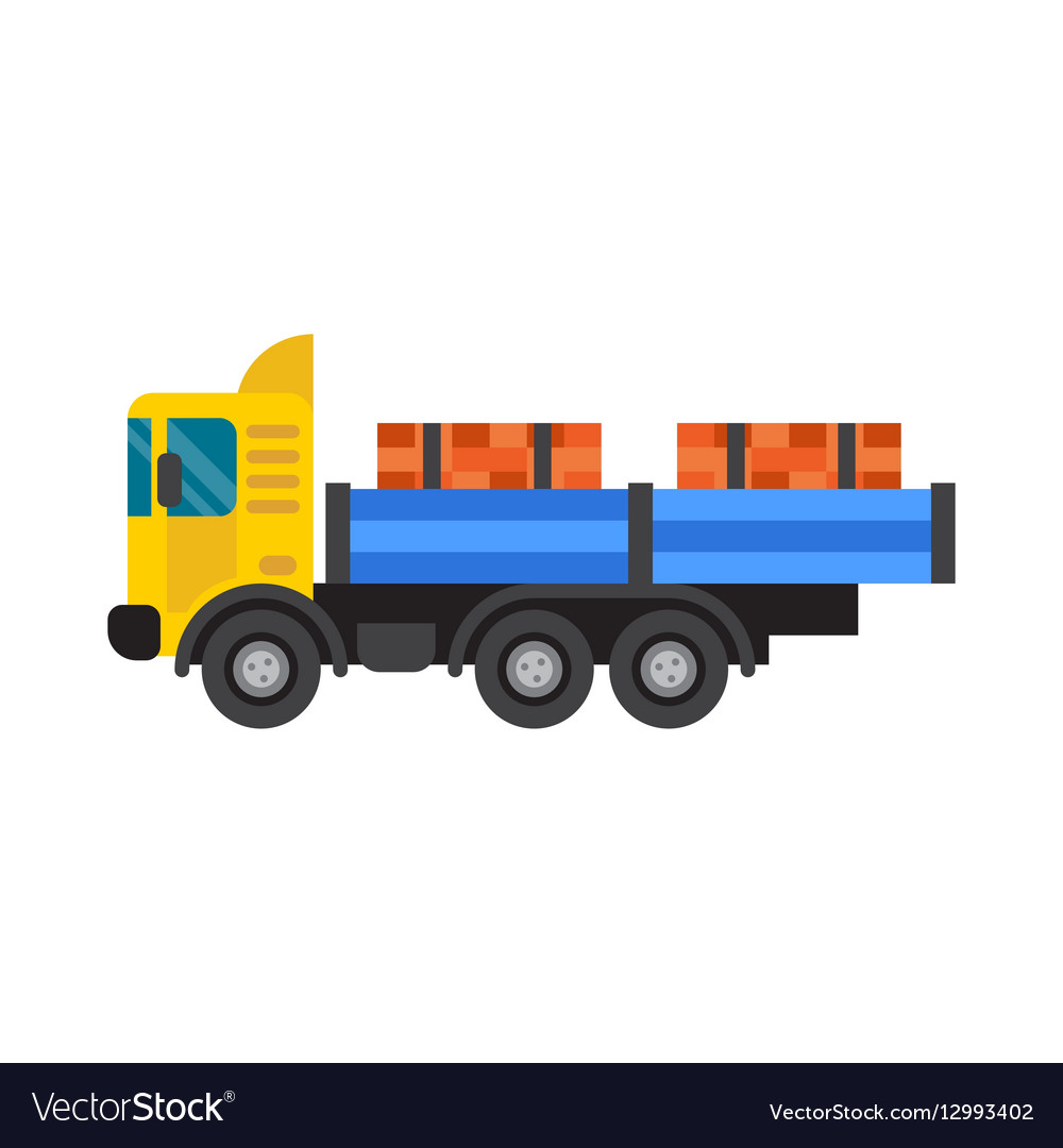 Tipper truck for construction industry vector image