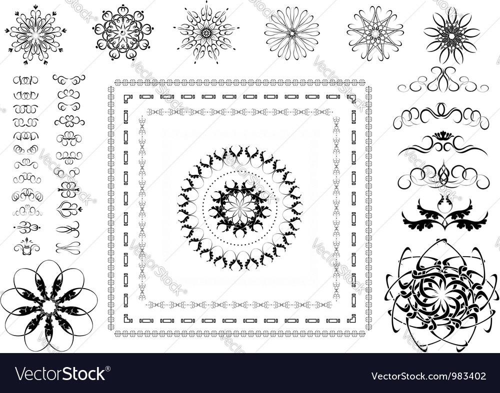 Variants of ornamental frames