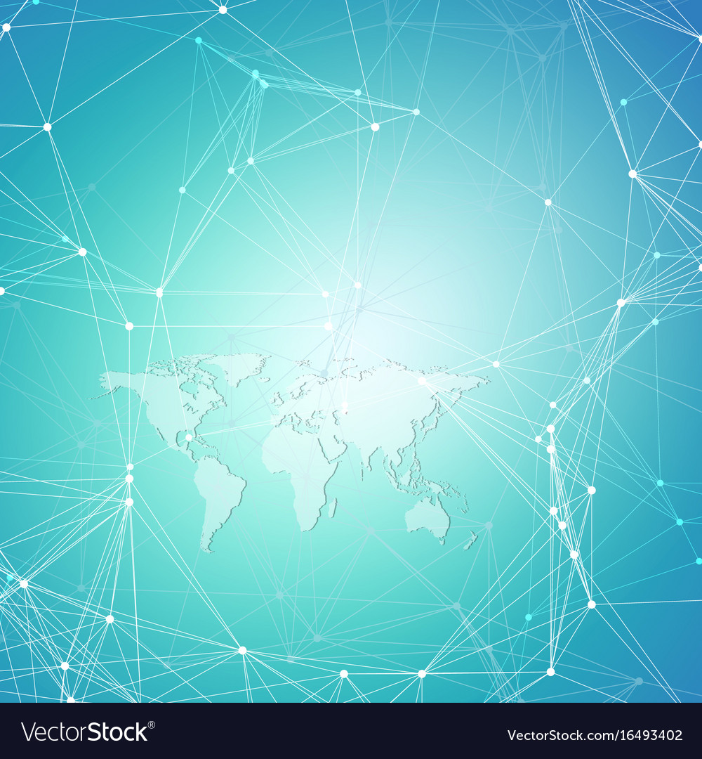 World map on blue background global network vector image gumiabroncs Gallery