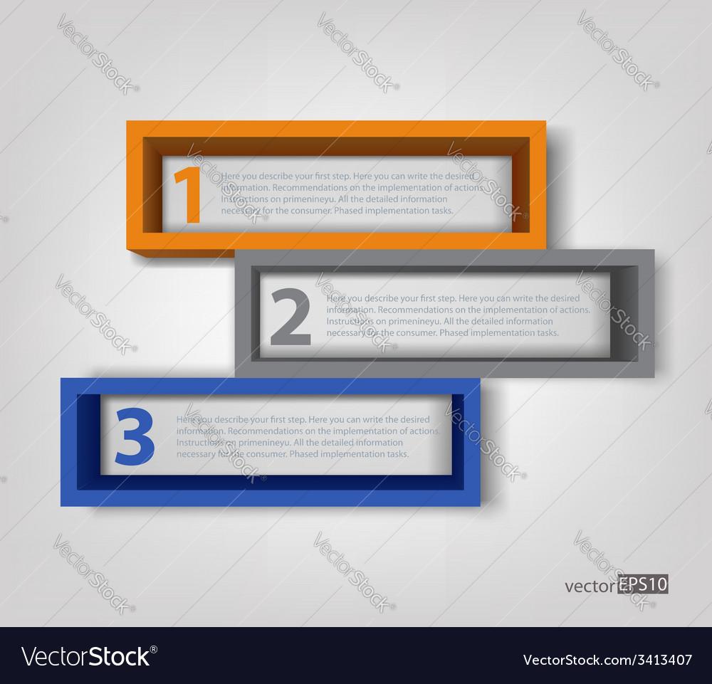 3d frames Royalty Free Vector Image - VectorStock