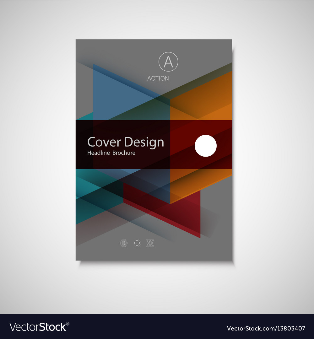 Abstract business flyer design template in