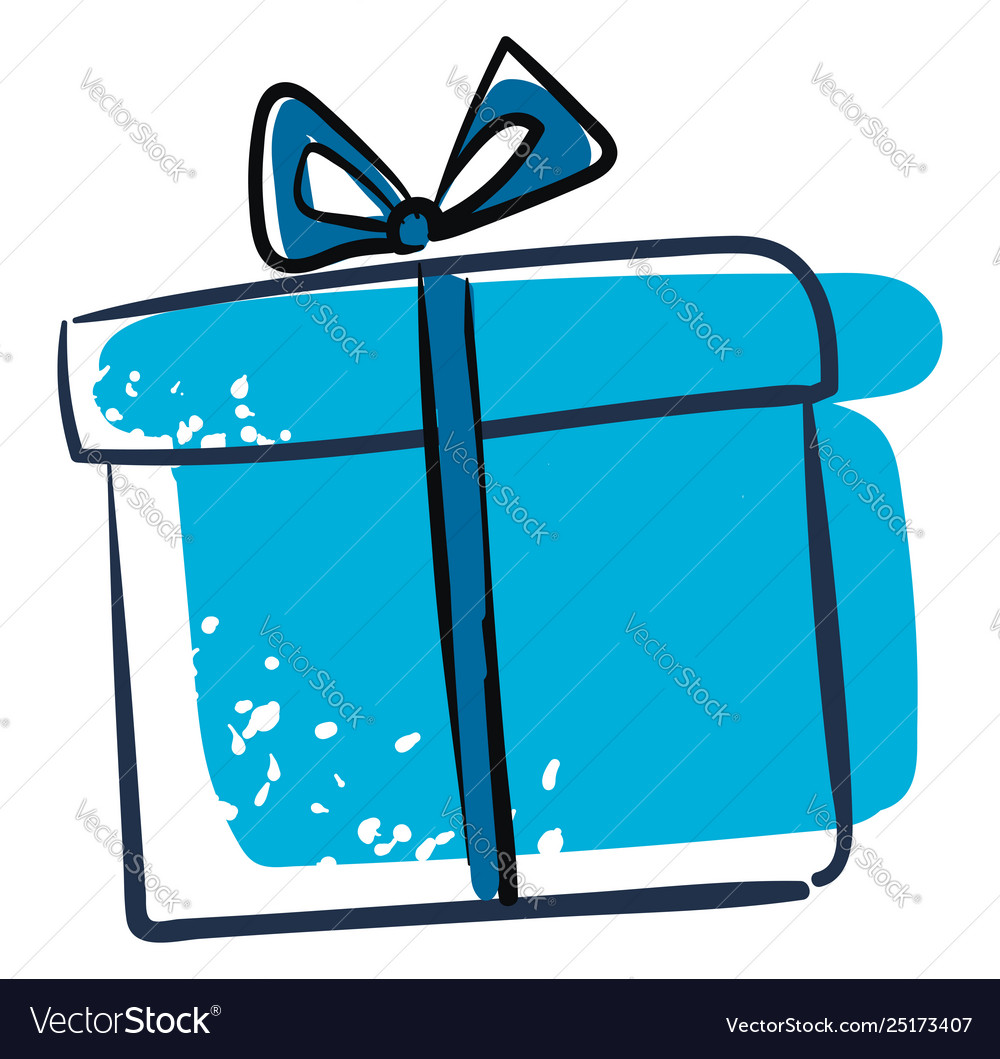 Clipart A Blue Gift Box Or Color Royalty Free Vector Image Bow clipart birthday gifts happy birthday boxes and bows art carte clip art altered boxes vintage artwork flower frame. vectorstock