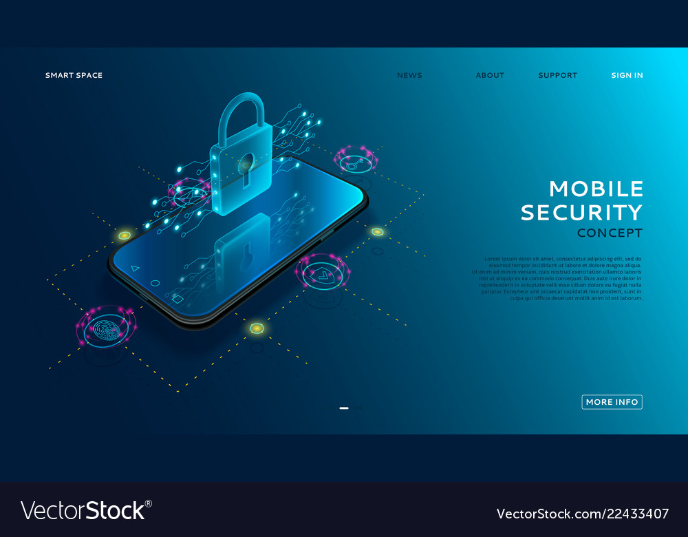 Mobile security modern concept