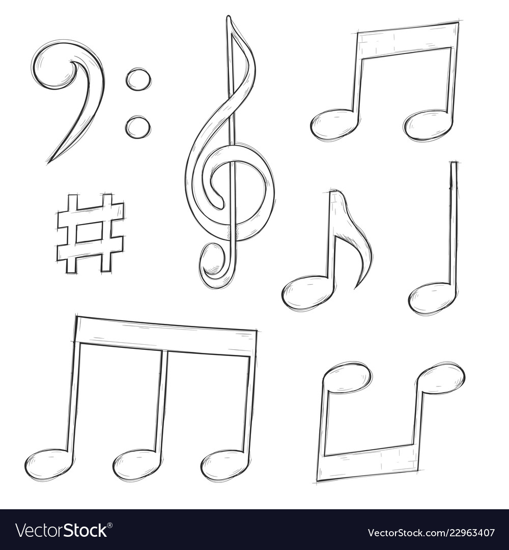 Music Signs Notes And Symbols Isolated On White