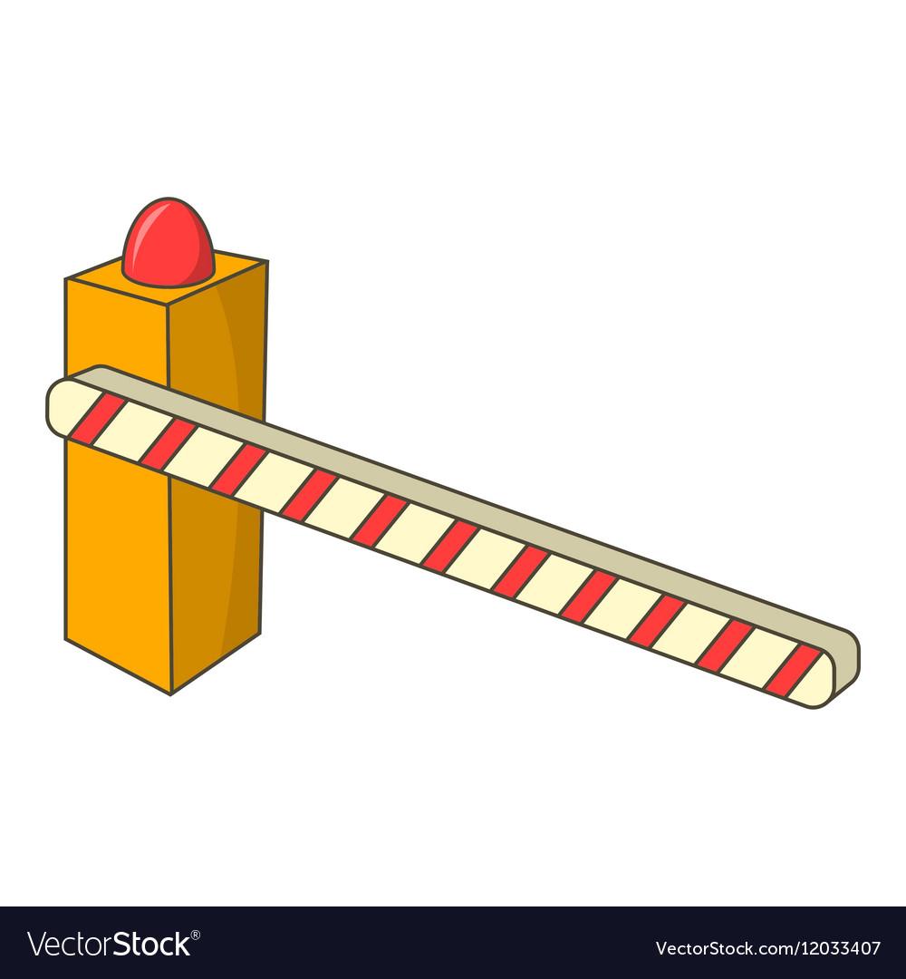 Шлагбаум картинка вектор