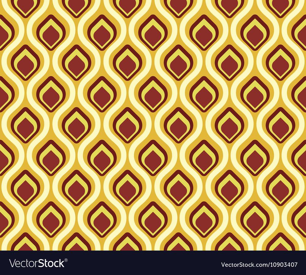 Retro seamless pattern peacock tail