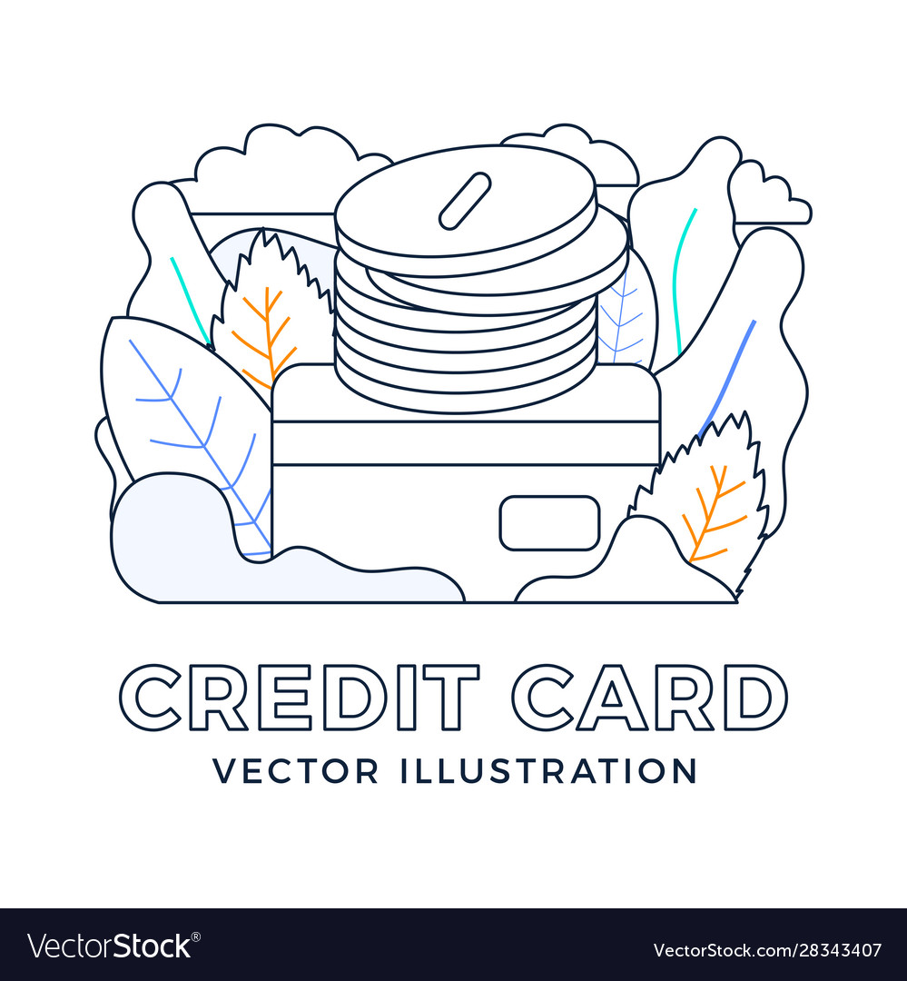Stack coins with a credit card stock isolated