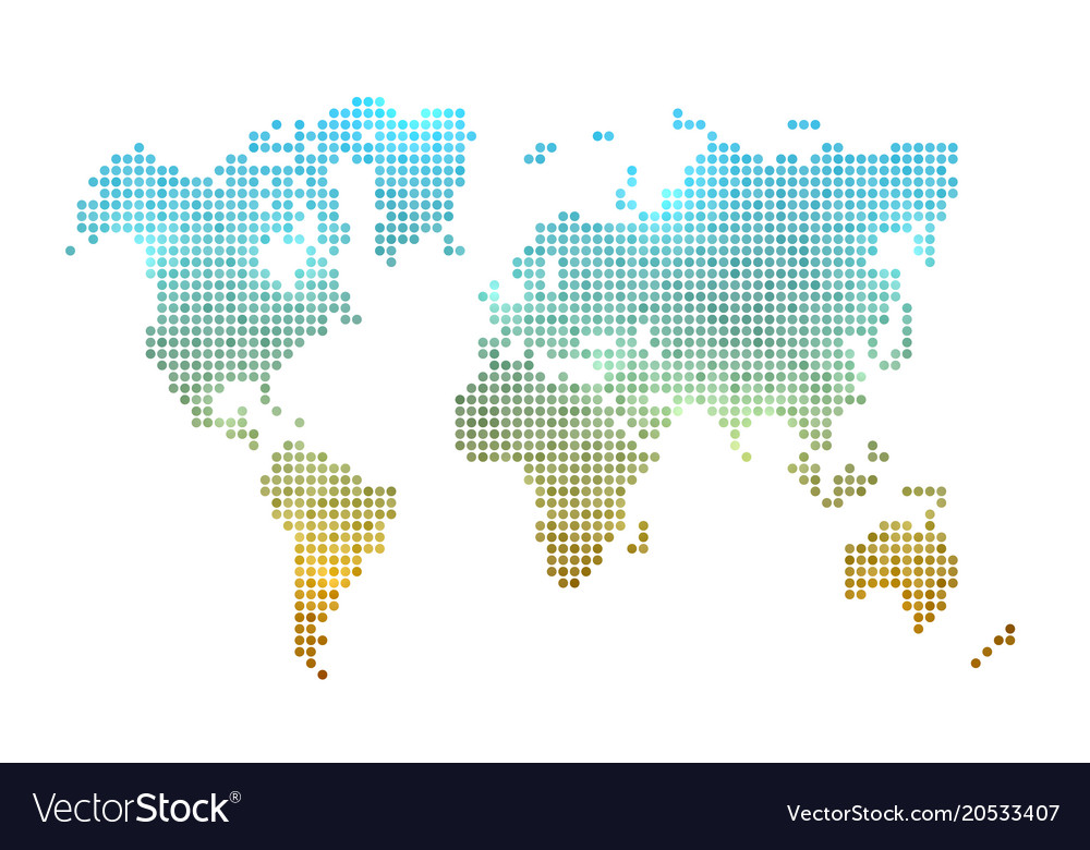 World map made of dots royalty free vector image world map made of dots vector image gumiabroncs
