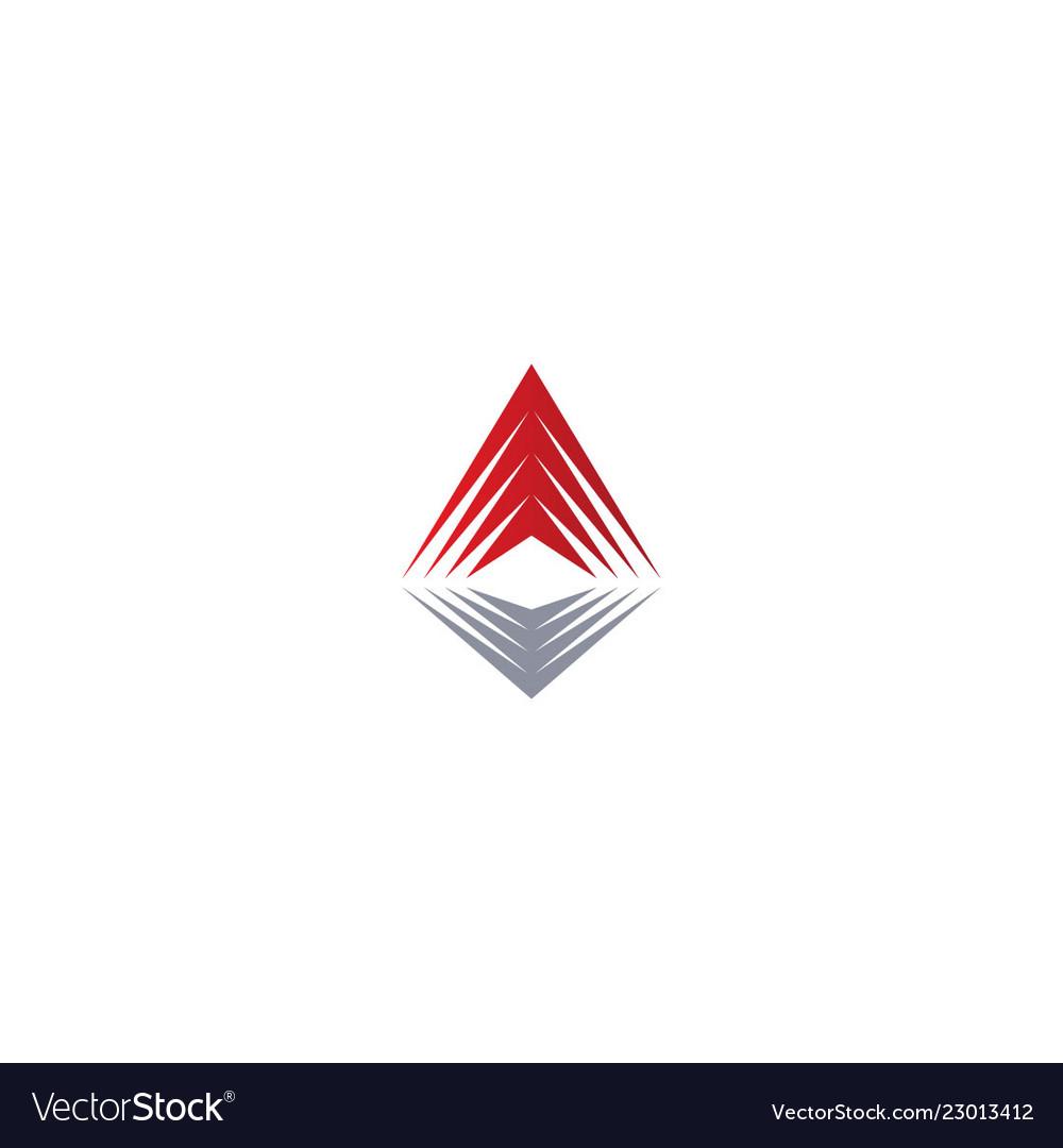 Abstract arrow up sign company logo