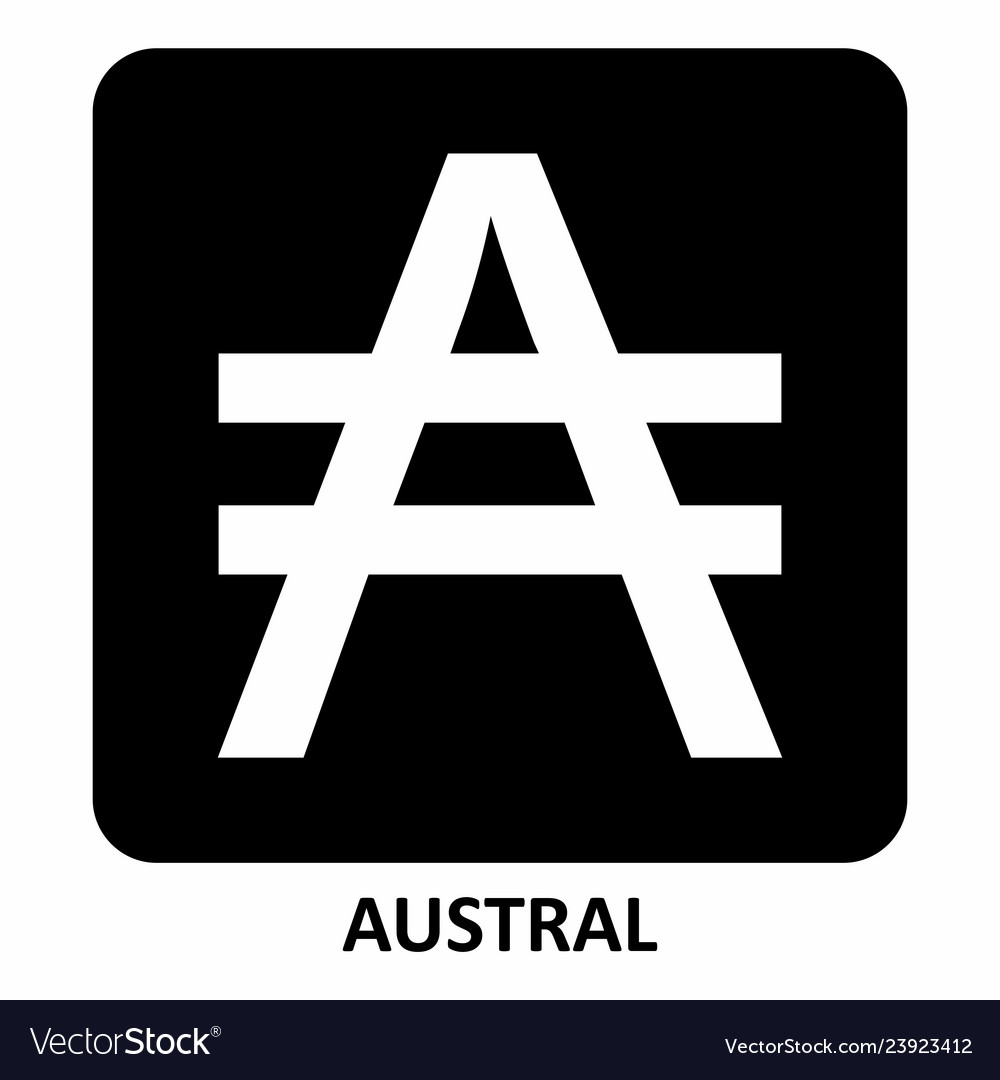 Austral currency symbol