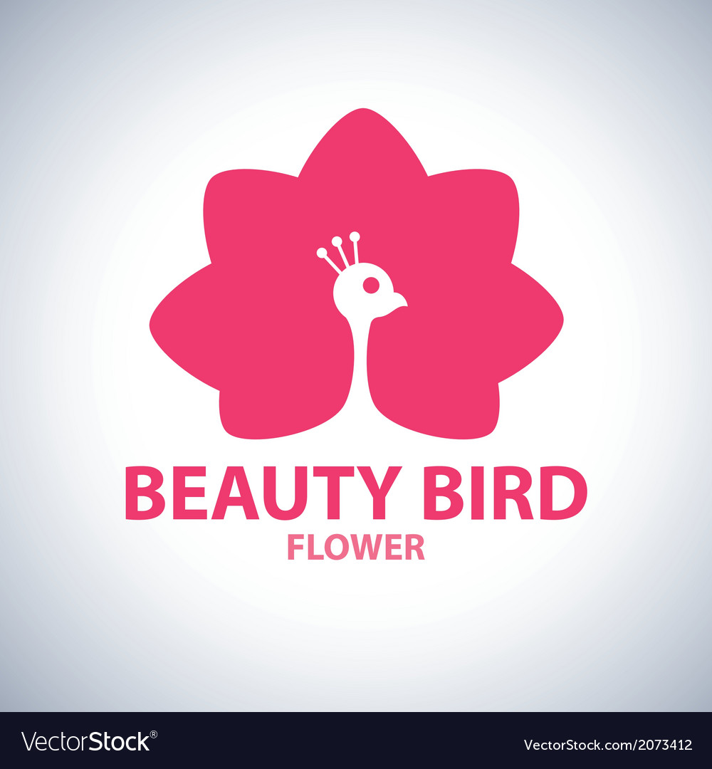 Beauty bird flower symbol icon royalty free vector image beauty bird flower symbol icon vector image izmirmasajfo