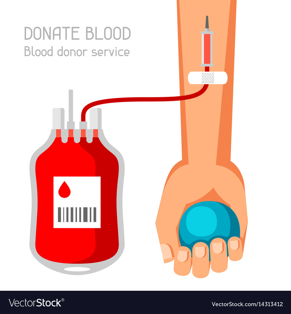 Donate blood donor service medical and healthcare