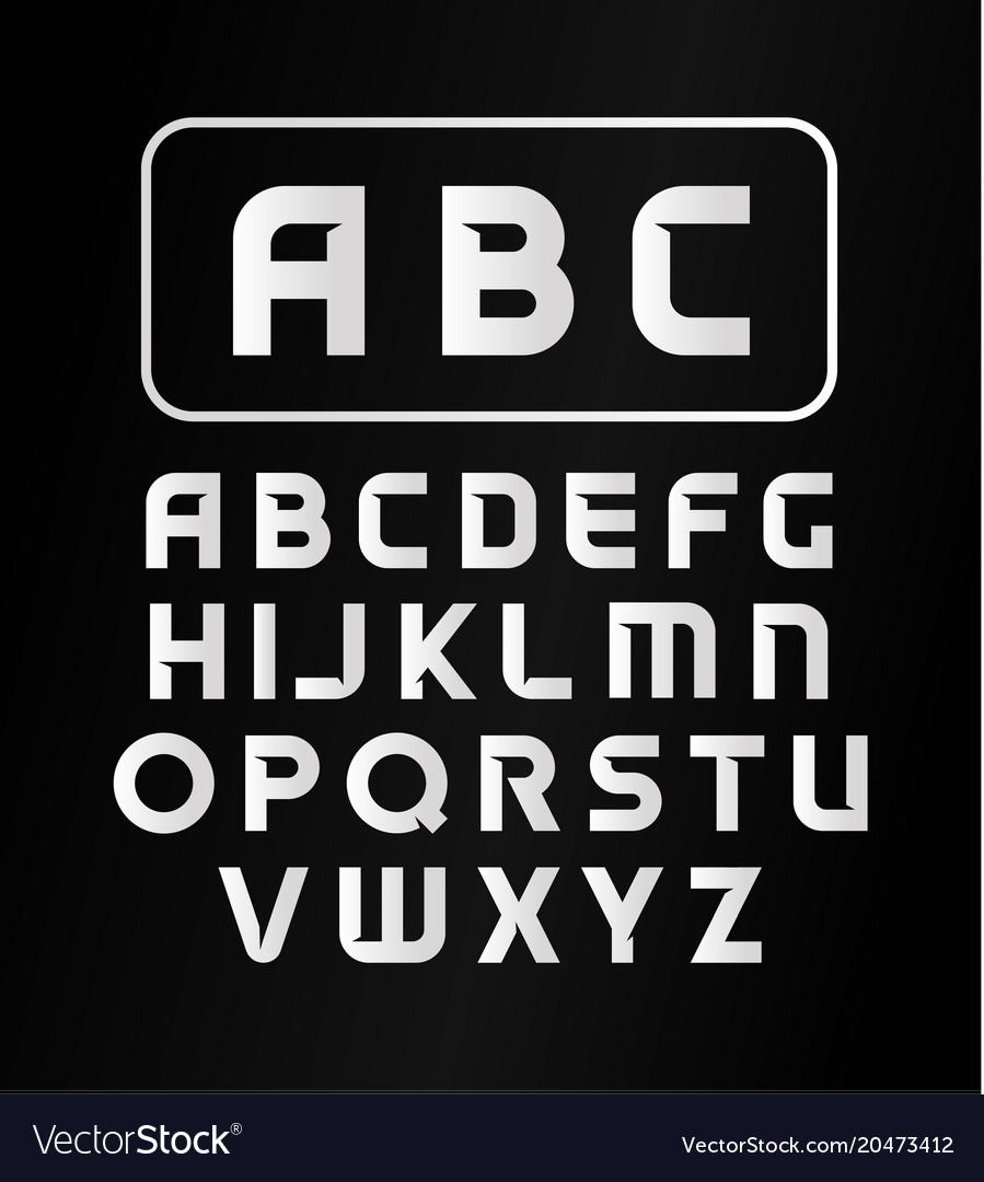 English Alphabet Typeface Modern Font Vector Image