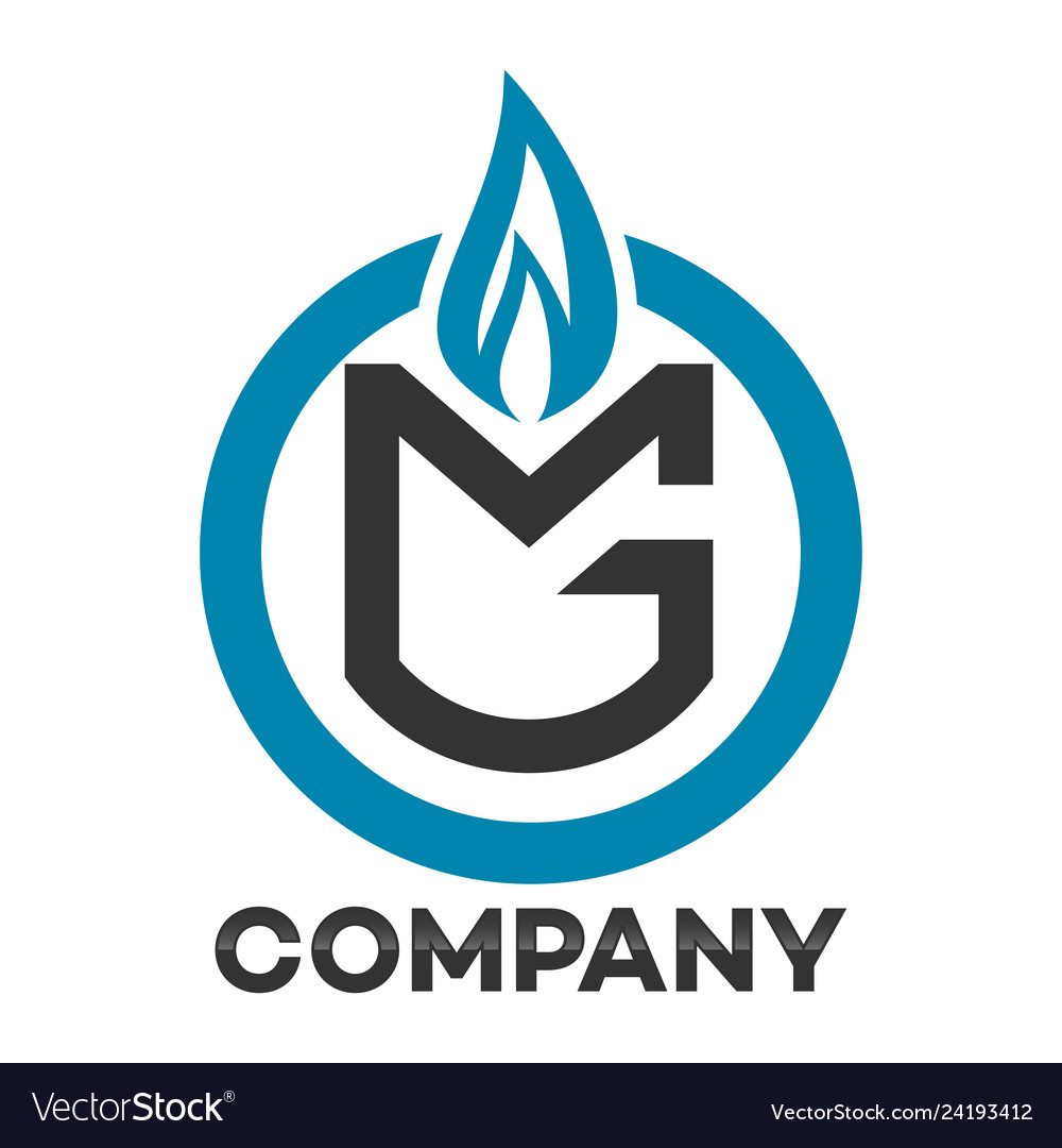 Gas mg letter logo