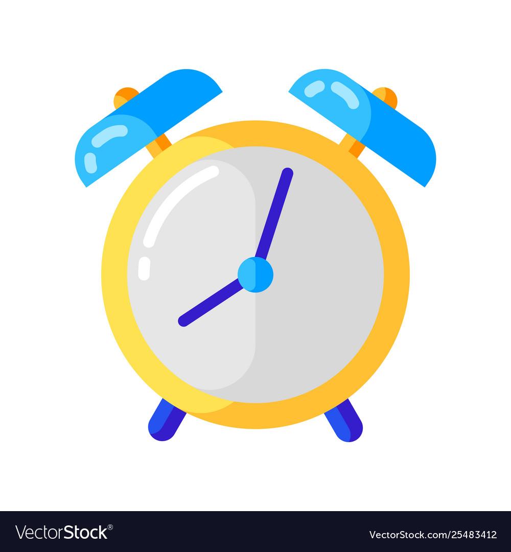 Icon alarm clock in flat style