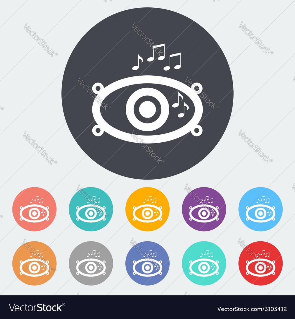 Icon of car speakers