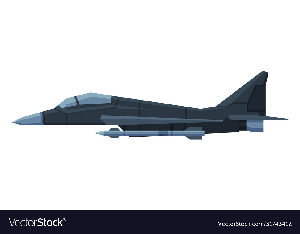 Military black aircraft fighter modern jet