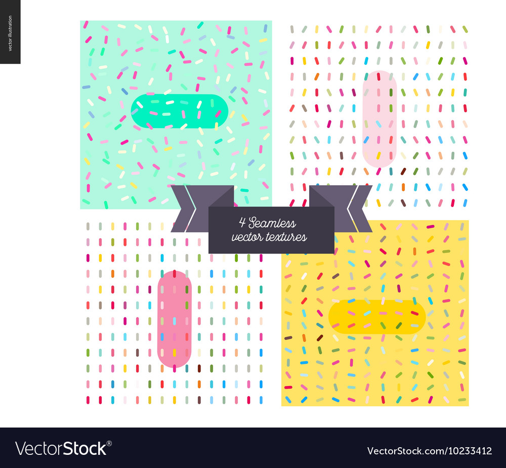Sprinkles paterrns and ribbon vector image