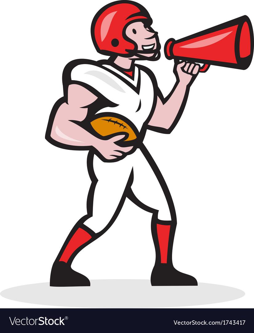 American Football Quarterback Bullhorn Isolated vector image