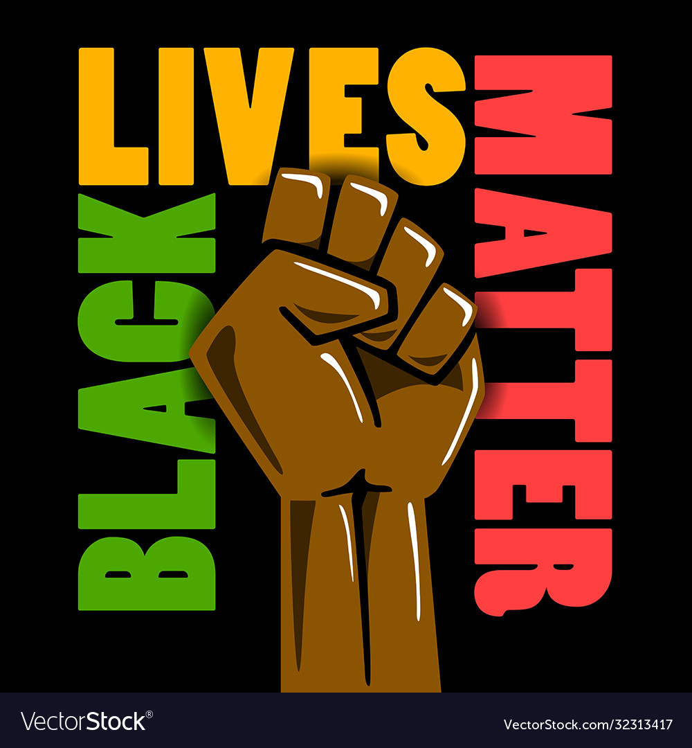 Black lives matters social poster banner