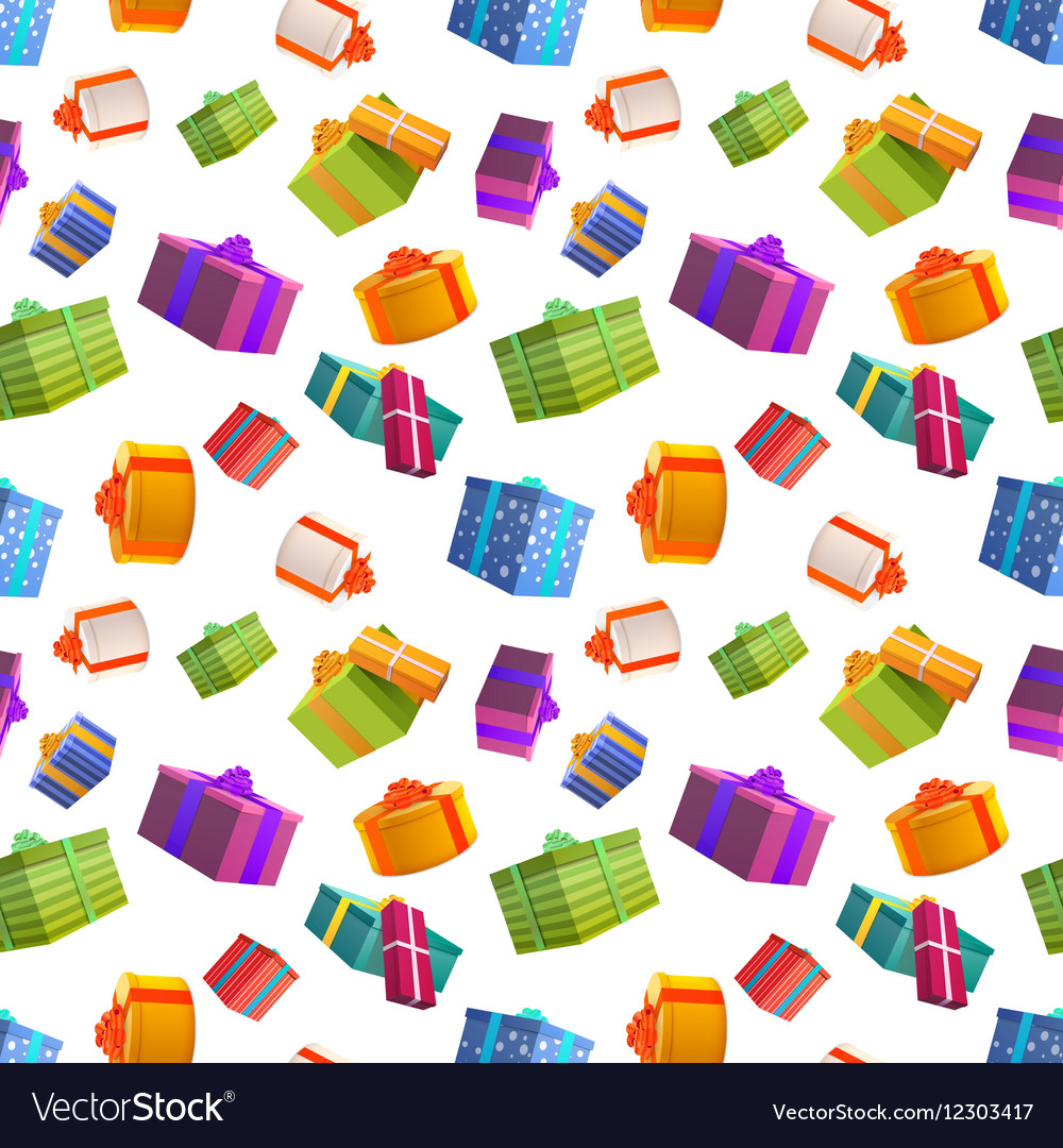 Bright colorful gift boxes on white background