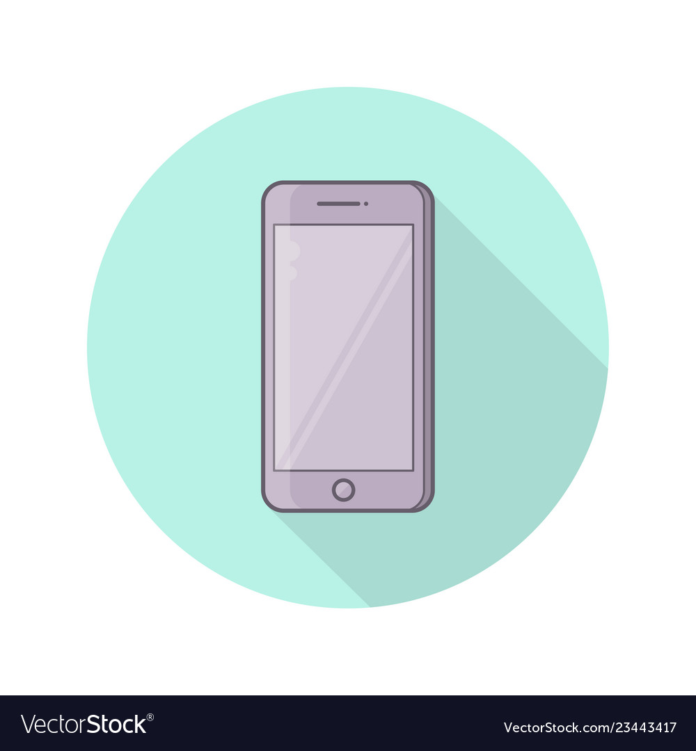 Color icon of realistic mobile phone