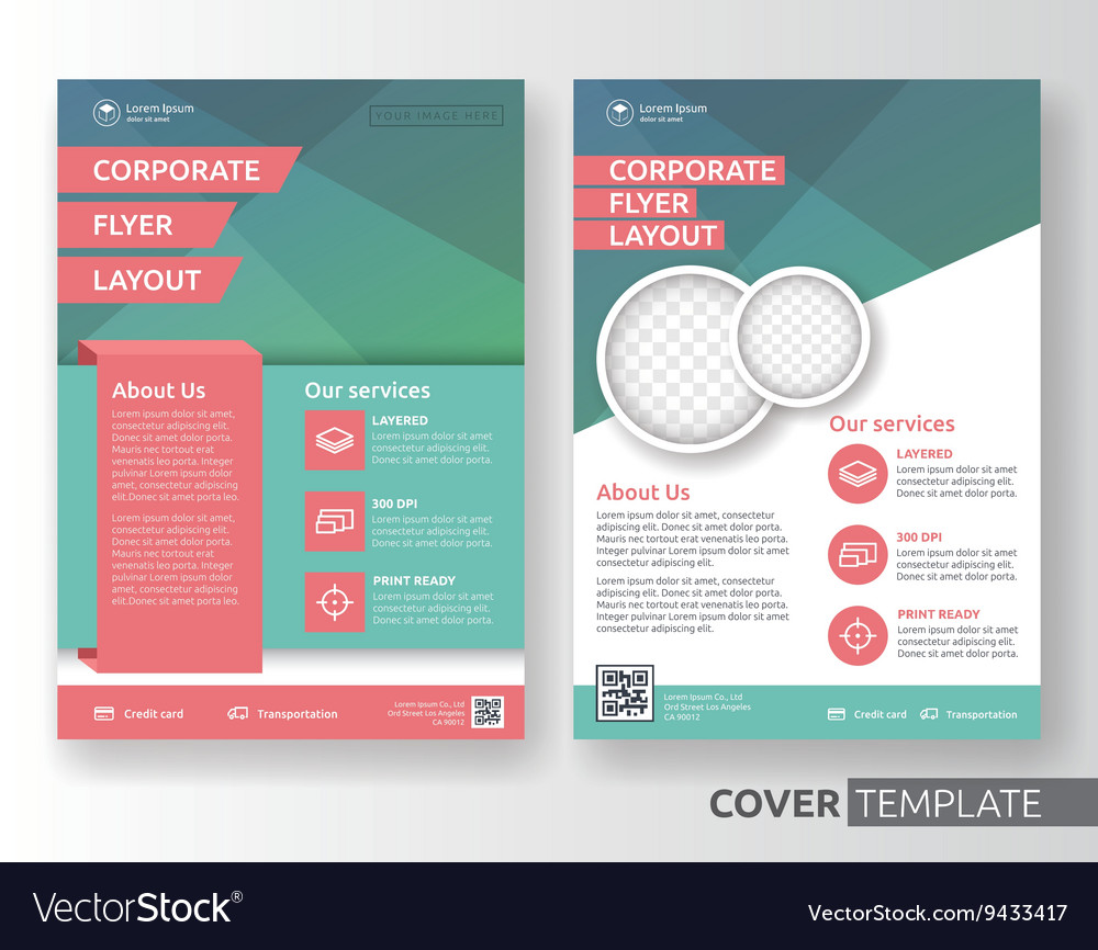 Corporate Business Flyer Layout Design Royalty Free Vector