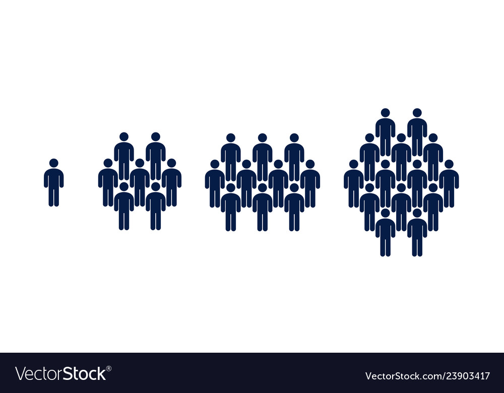 Different groups of people crowd infographics