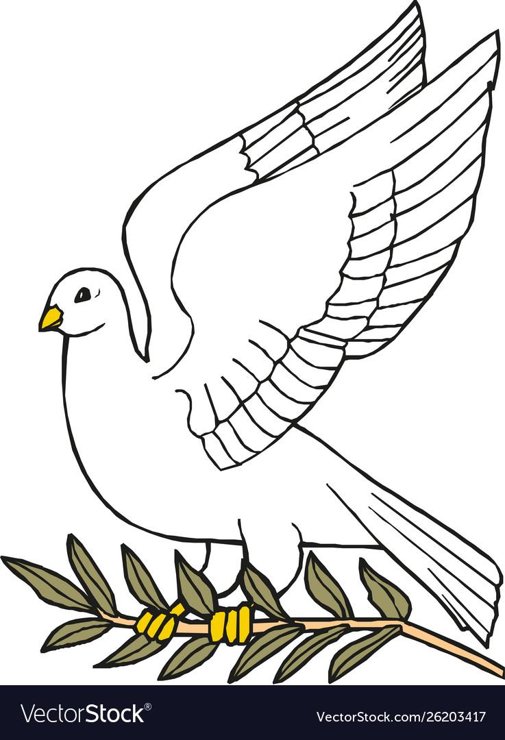 Dove peace icon peace concept