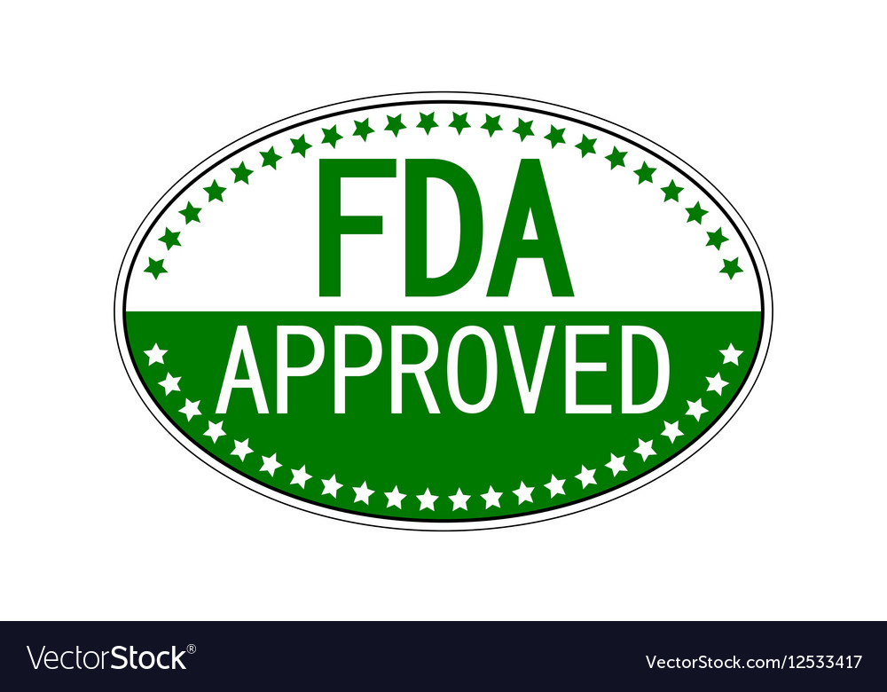 FDA approved oval sticker