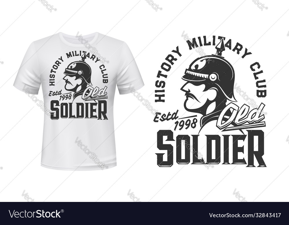 German soldier t-shirt print for military club