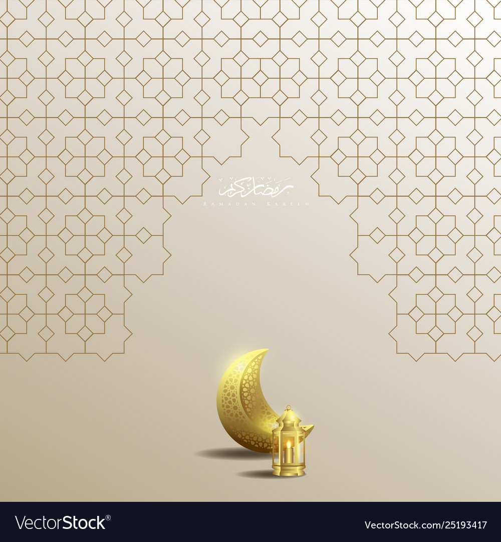 Ramadan kareem islamic geometry background