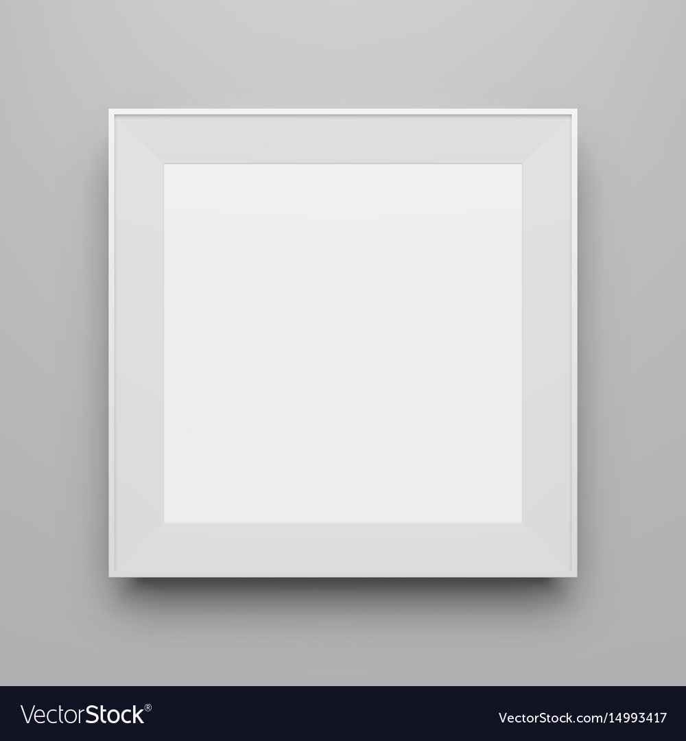 Square white frame template for picture Royalty Free Vector