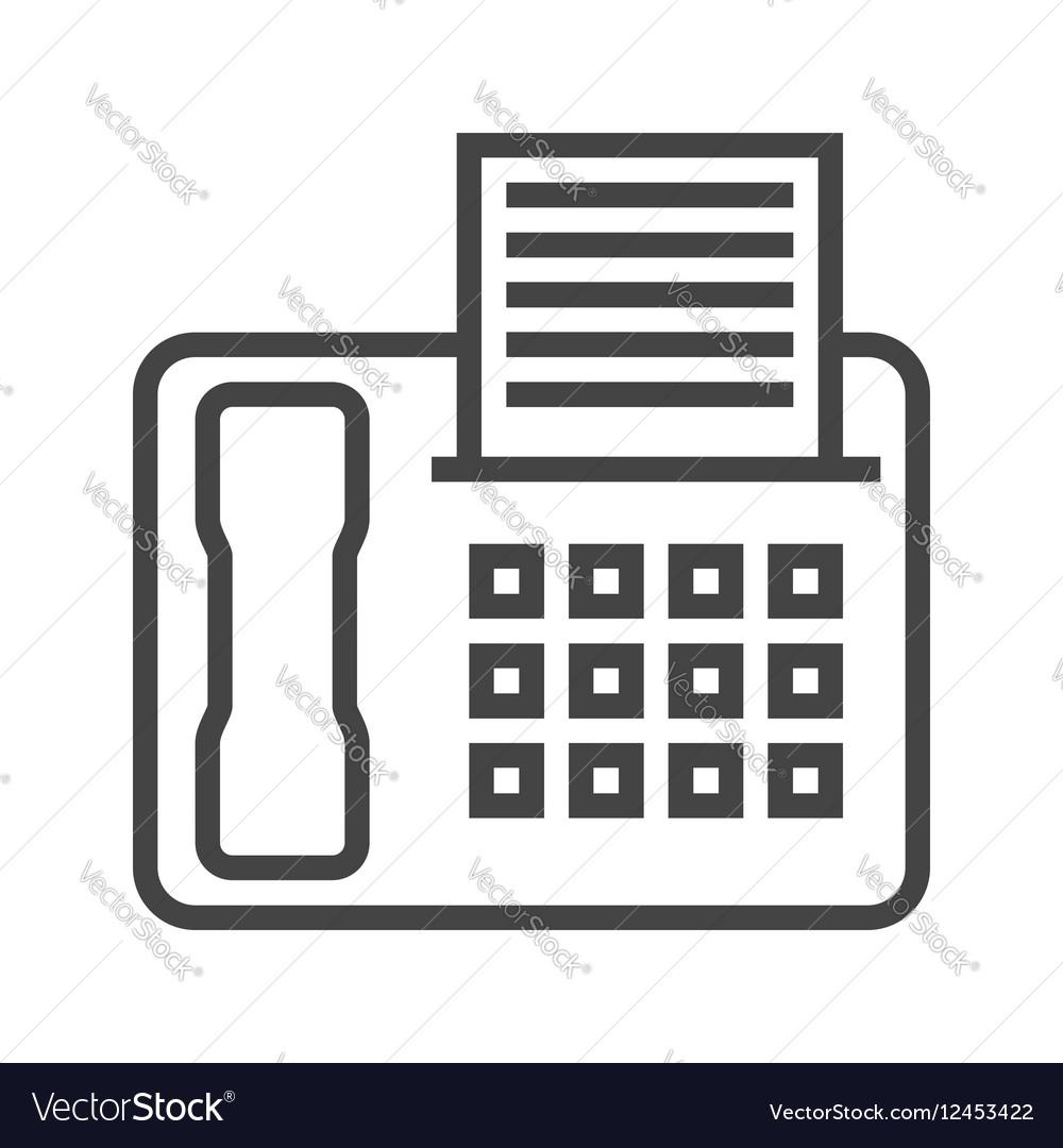 Fax Line Icon
