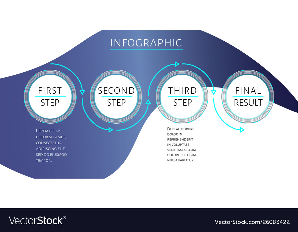 Futuristic infographic template with 4 options