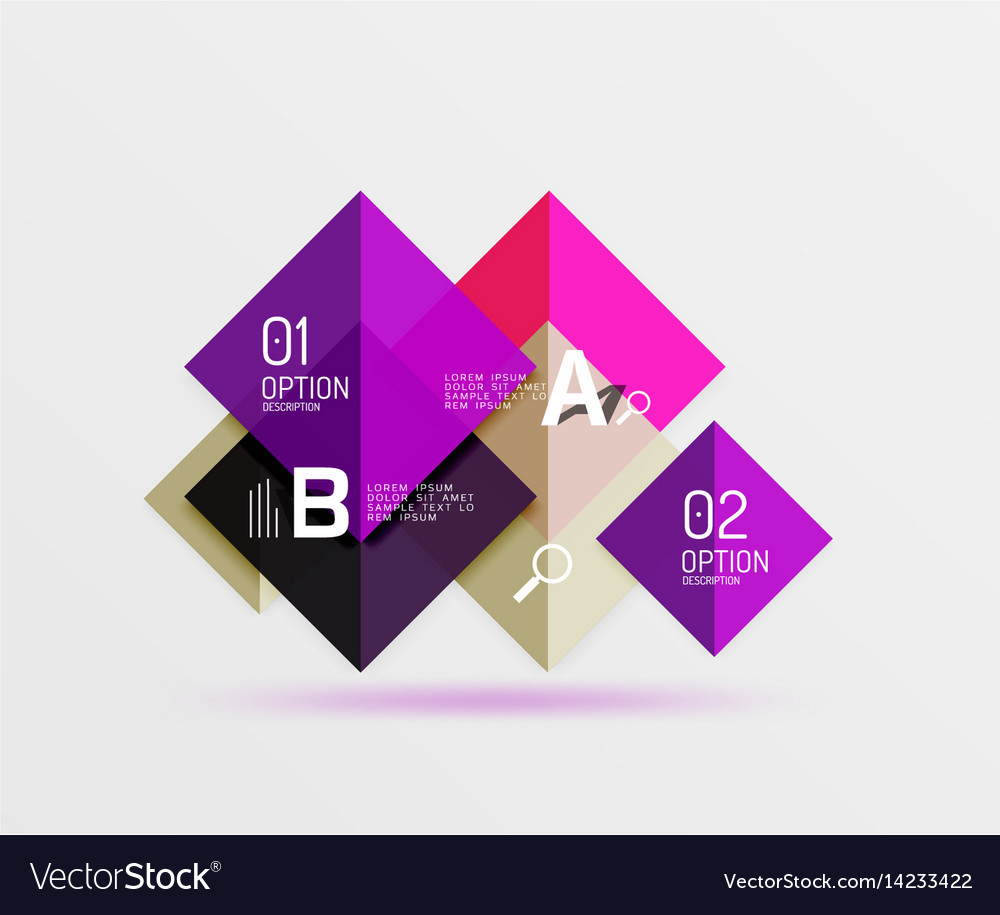 Geometric square and triangle template vector image
