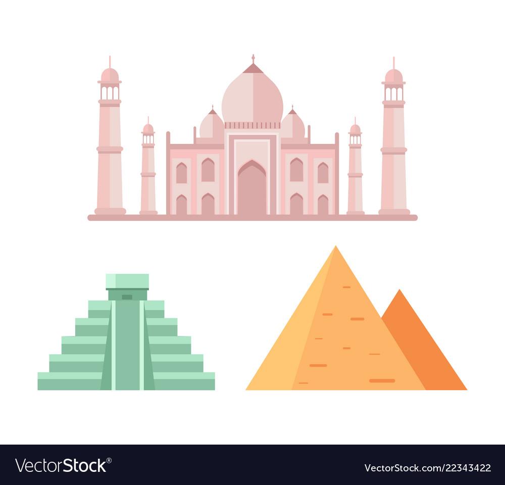 Maya and egyptian pyramids