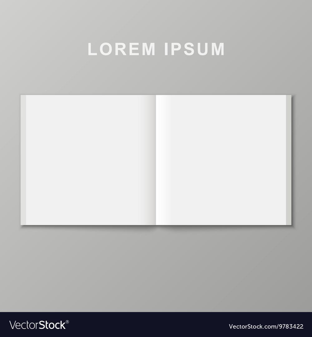 Open book template
