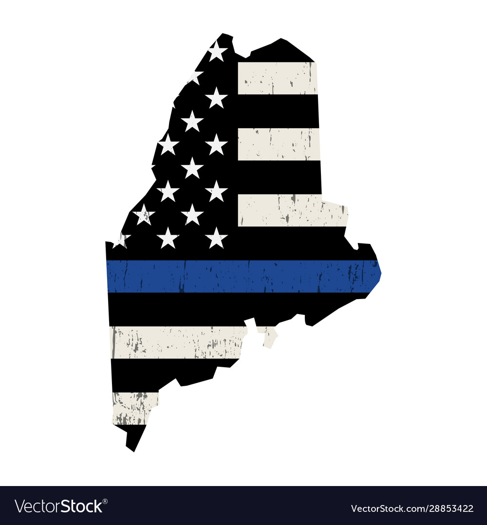 State maine police support flag