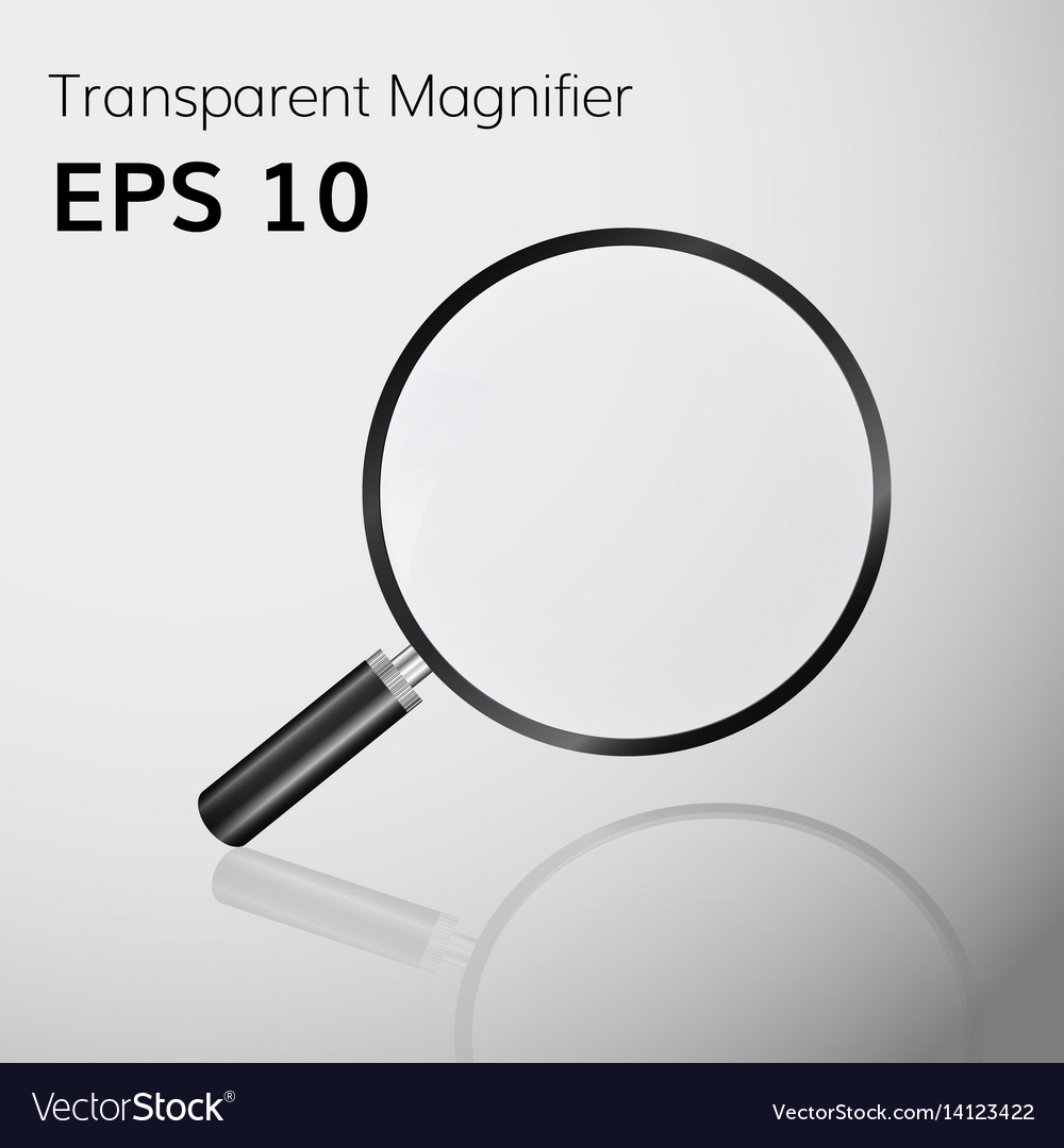 Transparent magnifying glass realistic