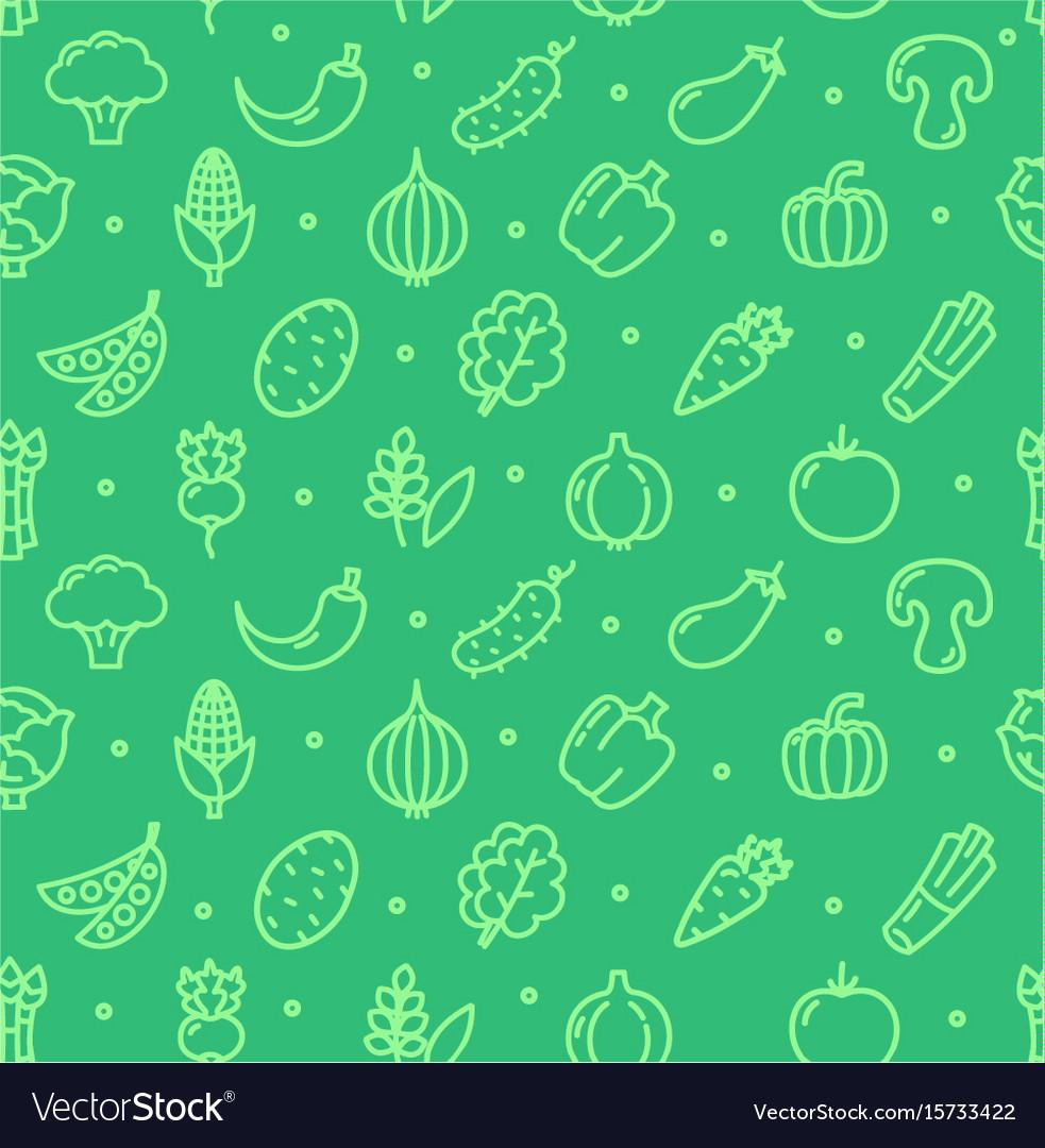 Vegetables food shop pattern background